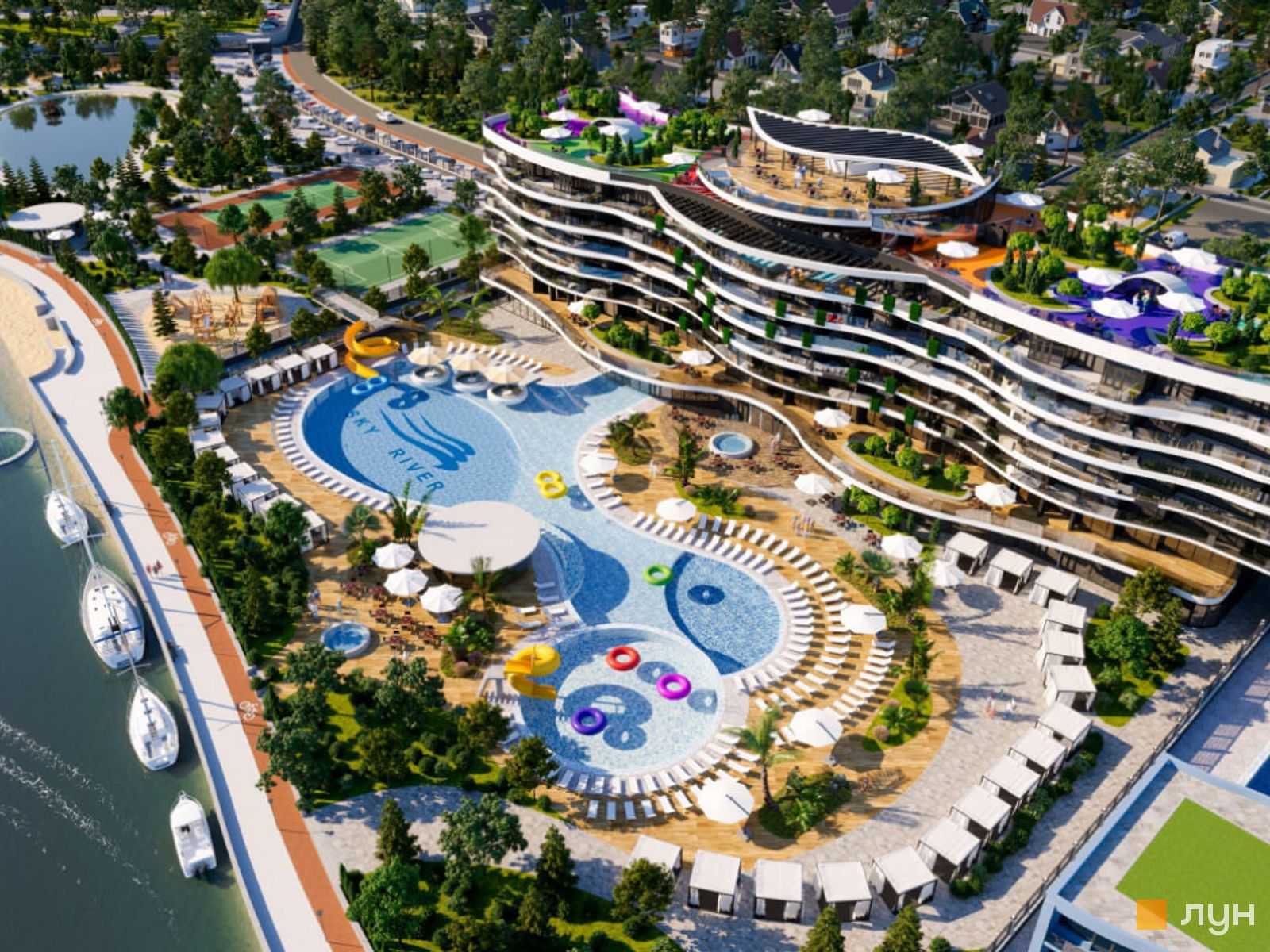 """Club-type residential complex """"Sky River"""""""